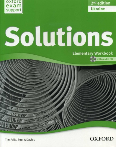 Купити Solutions Elementary 2nd edition: Workbook with CD-ROM (Ukrainian Edition), Київ, Україна | pidrychnuk.com.ua