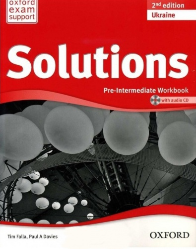 Купити Solutions Pre-Intermediate 2nd edition: Workbook with CD-ROM (Ukrainian Edition), Київ, Україна | pidrychnuk.com.ua